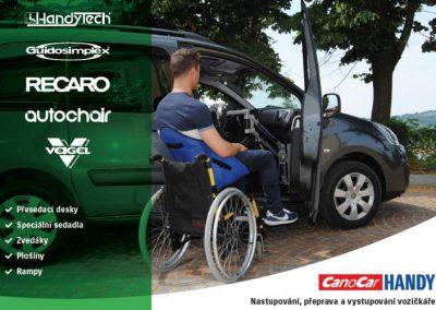 Nastupování a vystupování vozíčkáře